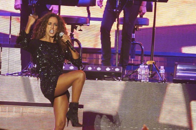 03 Sep 2015, Madrid, Spain --- Sept. 3, 2015 - Madrid, Spain - Rosario Flores performs on stage during Cadena Dial 25 anniversary party at Palacio de los Deportes on September 3, 2015 in Madrid (Credit Image: © Jack Abuin via ZUMA Wire) --- Image by © Jack Abuin/ZUMA Press/Corbis
